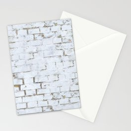 Vintage White Brick Wall Stationery Cards