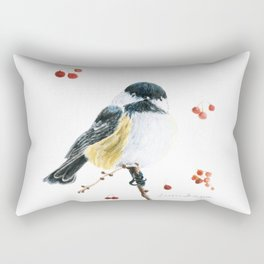 Christmas Chickadee by Teresa Thompson Rectangular Pillow