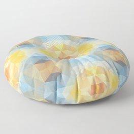 Kaleidoscopic design in soft colors Floor Pillow