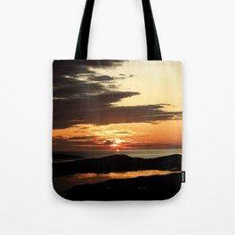 Swallowing midnight sun: darkness is coming Tote Bag
