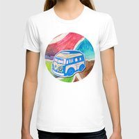 vw bus T-shirts featuring VW Bus Campervan by Carrie at Dendryad Art
