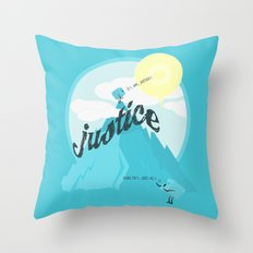Justice !.. Throw Pillow