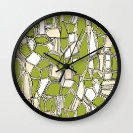 BROKEN POP citron Wall Clock
