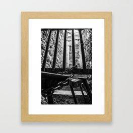 Behind the Bars Framed Art Print