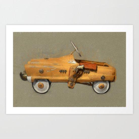 Roy Rogers Pedal Car Art Print