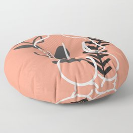 Sitting nude sexy back Floor Pillow