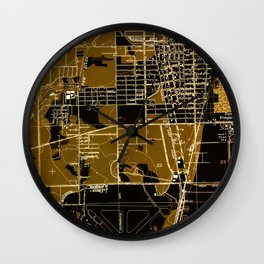 Fort Lauderdale old map year 1949, united states old maps Wall Clock