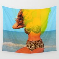 bikini Wall Tapestries featuring Untitled (Bikini) by Charles Wilkin