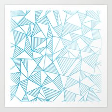 Abstraction Lines Watercolour Art Print