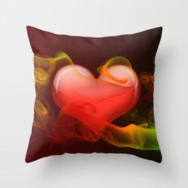 Heartbeat II Throw Pillow