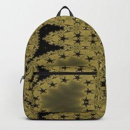 Goldblack Fractal Pattern Backpack