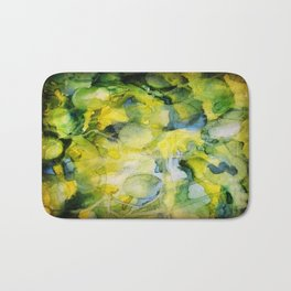 Spaced Out Watercolor Painting Bath Mat