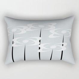 Summer White Garden Star Pastel Blue Rectangular Pillow