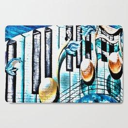 Deep Ellum Music Note Mural - Surreal Cutting Board