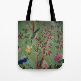 Green Dream Chinoiserie Tote Bag