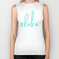 aloha Biker Tanks featuring Aloha by Leah Flores