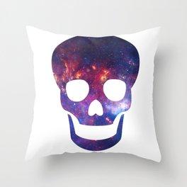 Galaxy Skull Throw Pillow