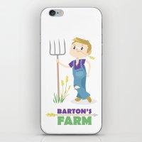 clint barton iPhone & iPod Skins featuring Clint Barton the Farmer by Alice Wieckowska