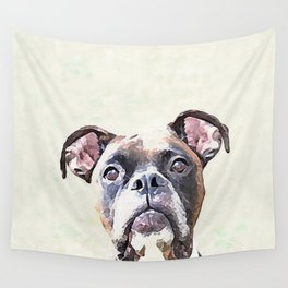 Brindle Boxer Dog Wall Tapestry