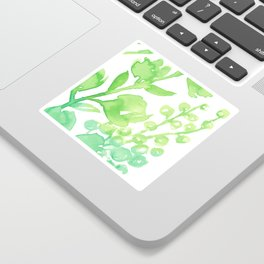 Abstract floral & square #10 Sticker