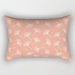 Pink Ginkgo Rectangular Pillow