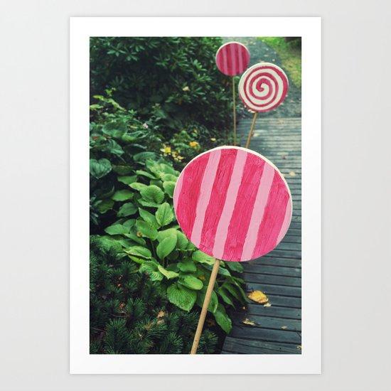 The Lollipop Trail Art Print