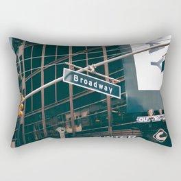 Broadway Street Sign (Color) Rectangular Pillow