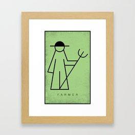 Simple Symbols - Basic Human Form - Farmer Framed Art Print