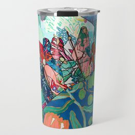 Floral Migrant Quilt Travel Mug