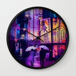 Tokyo Nights / Valentines Day / Liam Wong Wall Clock