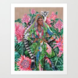 Lemur, into the Tropical Forest Art Print
