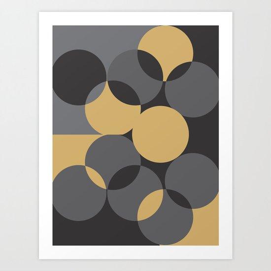 Black Gold Art Print