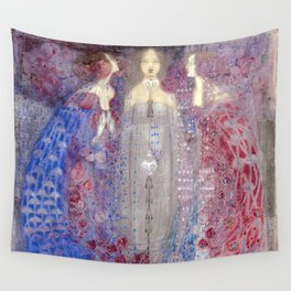 Margaret Macdonald Mackintosh The Three Perfumes Wall Tapestry