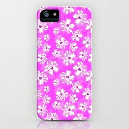 Purple Hawaiian Hibiscus Flowers iPhone Case