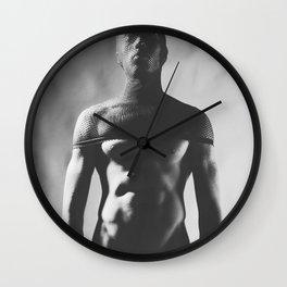 A Sexy Naked man dressed up kinky Wall Clock