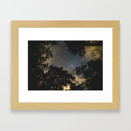 Night sky above Goose Creek State Park Framed Art Print