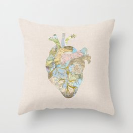 A Traveler's Heart (N.T) Throw Pillow