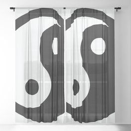 oriental ying yang Sheer Curtain