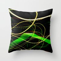 sonic Throw Pillows featuring Sonic Waves by Jonathan Wright Productions
