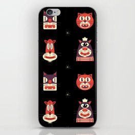 Kitty Kat Head Patterns with Dingbats iPhone Skin