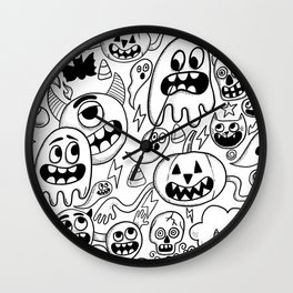 Ghosts & goblins Wall Clock