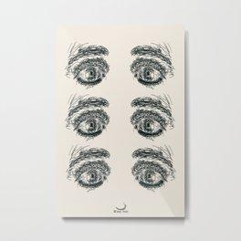 Exhausted  Eyes Metal Print