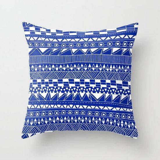 Fun - blueberry Throw Pillow