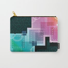 Abstract Tech Carry-All Pouch