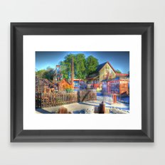 Western Yard Framed Art Print