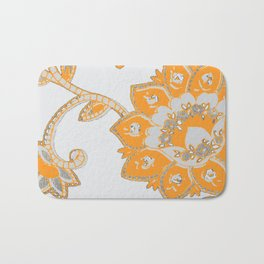 vintage paisley orange/grey Bath Mat
