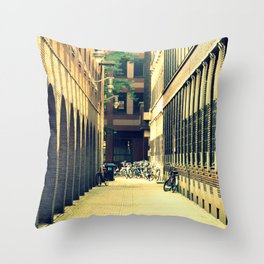 Bicycles at the End of an Alley Throw Pillow