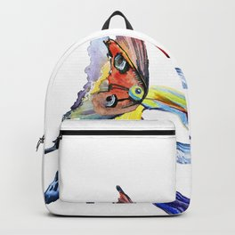 watercolor illustration of a tropical toucan bird Backpack