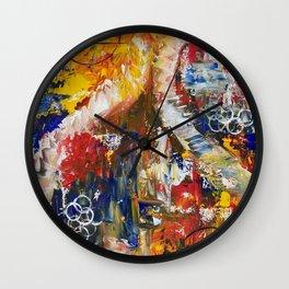 Dueling Seahorses Wall Clock