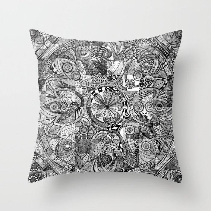 Mandala 5 Throw Pillow